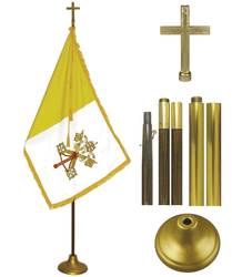 Papal Vatican City Indoor Flag Presentation Sets