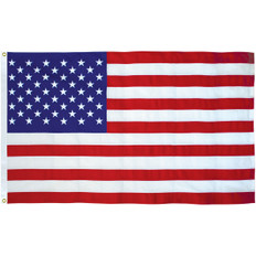 5' x 9 1/2' Cotton Interment Flag